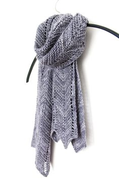 Terrain // Simple & chic chevron scarf for one skein of fingering weight yarn. Shown in The Uncommon Thread Posh Fingering.