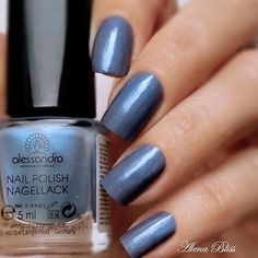 High Nails | Blue grey metallic polish