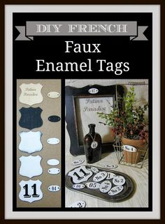 Patina Paradise: DIY Faux Enamel Tags