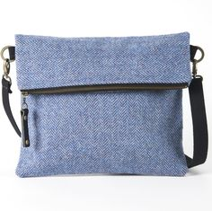 EXPLORER MESSENGER BLUE HERRINGBONE