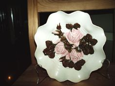 Great-Brown-pottery-rose-candy-dish