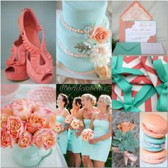 Mint and coral wedding ideas