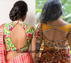 Cut Out Saree Blouses