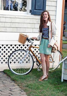 beautiful clothes and beautiful bike