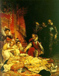 Paul Delaroche Dying Queen Elizabeth Refuses Bed