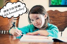 How to homeschool without losing your mind! Homeschooling resources and ideas!