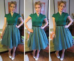 Lindy Bop Megan Dress in Emerald Green - 1950s