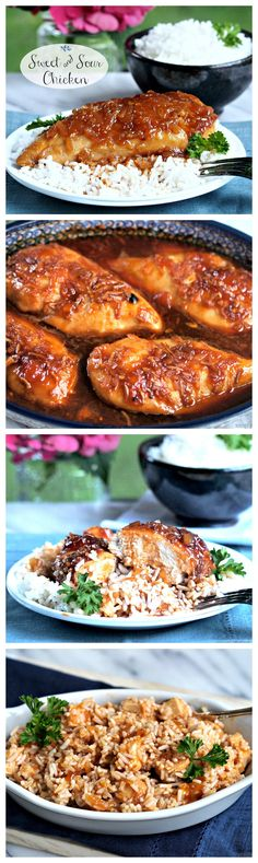 Sweet and Sour Chicken in one of my very favorite recipes! My family LOVES this dish.  So good and easy! - The Cookie Rookie