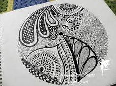 Image result for zentangle inspired fridge magnet