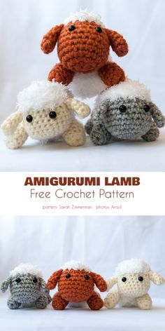 Lamb and Baby Mobile Free Crochet Patterns Amigurumi Lamb Easy Crochet Hat, Crochet Amigurumi Free Patterns, Easter Crochet, Crochet Crafts, Crochet Toys, Crochet Projects, Free Crochet, Knit Crochet, Crochet Baby Mobiles