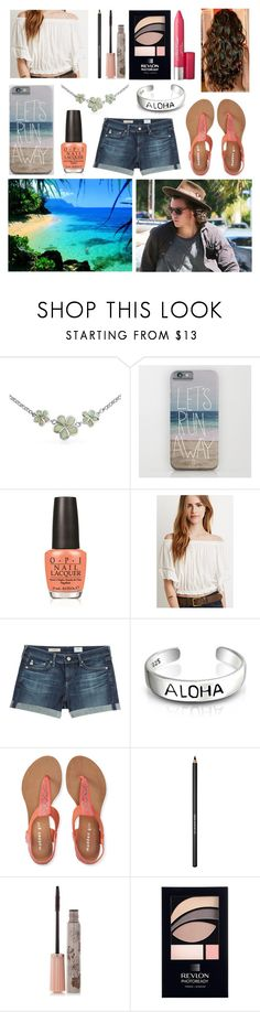 """""""Hawaii with Harry"""" by sarahorantomlinson ❤ liked on Polyvore featuring Bling Jewelry, OPI, Forever 21, AG Adriano Goldschmied, Aéropostale, Lancôme, Paul & Joe and Revlon"""
