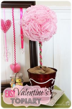 Easy Valentine's Day Topiary | MyBlessedLife.net