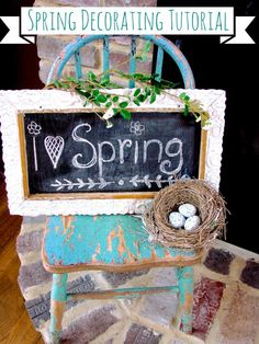 Spring Decorating Tutorial over at Sugar Pie Farmhouse #spring #Easterdecorating