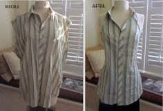 After I made my Re-Style this week, I was left with a pitiful, sleeveless, men's shirt. I went directly to the internet and started to s...