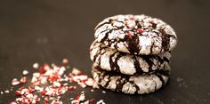 Awesome holiday cookies- Double Chocolate Crinkle Cookies Recipe on Morsel Journal
