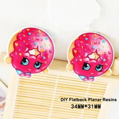 50pcs/lot Cartoon Shopping Sweet Cookie Resin Flatback for Hair Bows Kawaii Planar Resin Crafts for DIY Phone Decorations