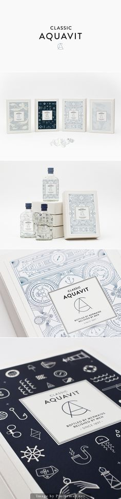 Classic Aquavit #packaging #design #typography PD