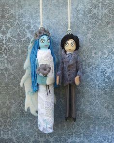 Tim Burtons Corpse Bride Clothespin Doll Ornaments by LittleParade, $24.00