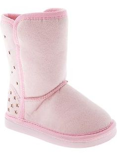 Perforated Faux-Suede Boots for Baby