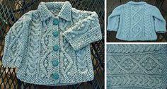 Aquamarine Knitted Baby Cardigan [FREE Knitting Pattern]
