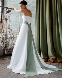 DRESS OPTION #1: with a coloured sash (not this colour maybe royal purple), no ruffles, strapless