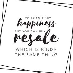 Keep calm and shop #resale