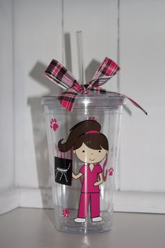 Personalized Vet Tech Tumbler by ThePompousPiglet