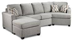Downtown 2-Piece Left-Facing Sectional - Grey | Leon's