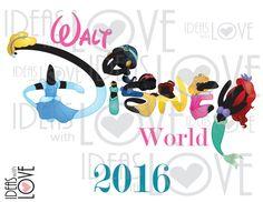 INSTANT DOWNLOAD DIY Walt Disney World Princess by IdeasLove