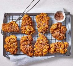 Fry perfectly golden, crispy chicken with our fried chicken recipes. Find southern-style buttermilk recipes and Korean-inspired dishes. Chicken Recipes Bbc, Bbc Good Food Recipes, New Recipes, Cooking Recipes, Chicken Recepies, Weekly Recipes, Chicken Meals, Yummy Recipes, Dinner Recipes
