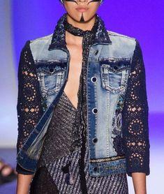 New ideas diy ropa reciclada sueter Jeans Recycling, Recycle Jeans, Artisanats Denim, Denim And Lace, Fashion Fabric, Denim Fashion, Boho Fashion, Style Fashion, Fashion Tips