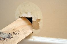 Learn how to repair a medium-sized hole in drywall like the pros. The result is a strong patch and seamless finish every time.