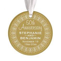 50th Wedding Anniversary Personalized Ornament