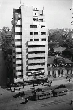 (Willy Pragher, 1941) Bauhaus, Amsterdam, Bucharest Romania, Art Deco, Old City, Time Travel, Facade, Skyscraper, Architecture Design