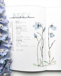 Instagram media by northernplanner - My favorite page so far, my index • • • • • • • • • #bujo #bulletjournallove #bulletjournal #personalplanner #drawing #planner #bulletjournallove #planneraddict #index