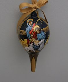 Original painted Christmas ornament of the nativity. by NHisLight, $50.00