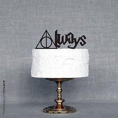 Always Cake Topper for Weddings by Acrylic Art Design / Harry Potter inspired Always