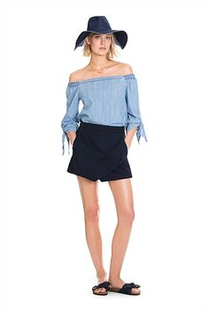 Denim Skort -not 100% sure the skort will beat out shorts but something to think on