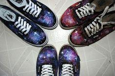 Cute vans galaxy biffrent colors