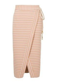 Saia mídi envelope listras - bege Blouse And Skirt, Skirt Pants, Semi Formal Wear, Hijab Chic, Fashion Sketches, Skirt Outfits, Women's Fashion Dresses, Beautiful Outfits, Clothes For Women