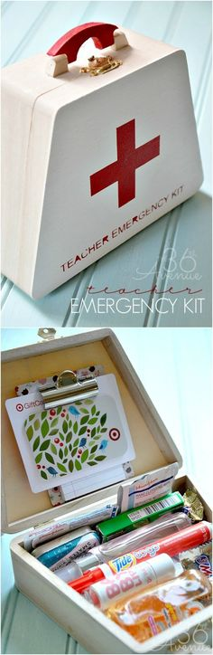Emergency Kit Gift Idea... Perfect for teachers, friends and teens!  the36thavenue.com #gifts #christmasgifts #teenbirthdaygifts