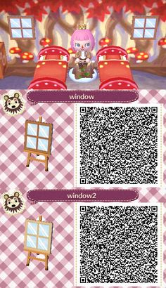 qr closet Window Pane - Animal Crossing New Leaf - QR Codes<br> Animal Crossing 3ds, Animal Crossing Qr Codes Clothes, Wall Paper Iphone, Acnl Paths, Motif Acnl, Code Wallpaper, Ac New Leaf, Motifs Animal, Happy Home Designer