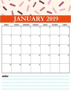 January 2019 Blank Calendar Calendar Designs Pinterest