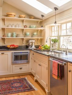 Victorian home renovation north of Boston. Heartwood Kitchens,...