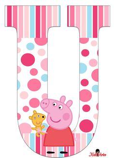 Peppa Pig Alphabet. Alfabeto de Peppa Pig con Perrito.