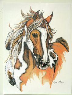 Paint Native American Indian War Horse Womans Quality T Shirt Sizes S M L XL 2XL