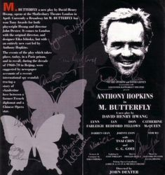 Anthony Hopkins in stage production of M. Butterfly