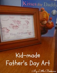 DIY Kid-made Father's Day Art- inspired by Kisses for Daddy by Frances Watts