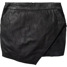 Scotch & Soda Leather skirt ($215) via Polyvore