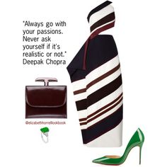 Liz by elizabethhorrell on Polyvore featuring Rosie Assoulin and Christian Louboutin